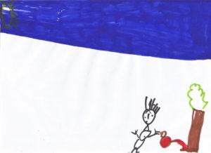 Μία από τις πέντε ζωγραφιές που εκπροσώπησαν την Κέα