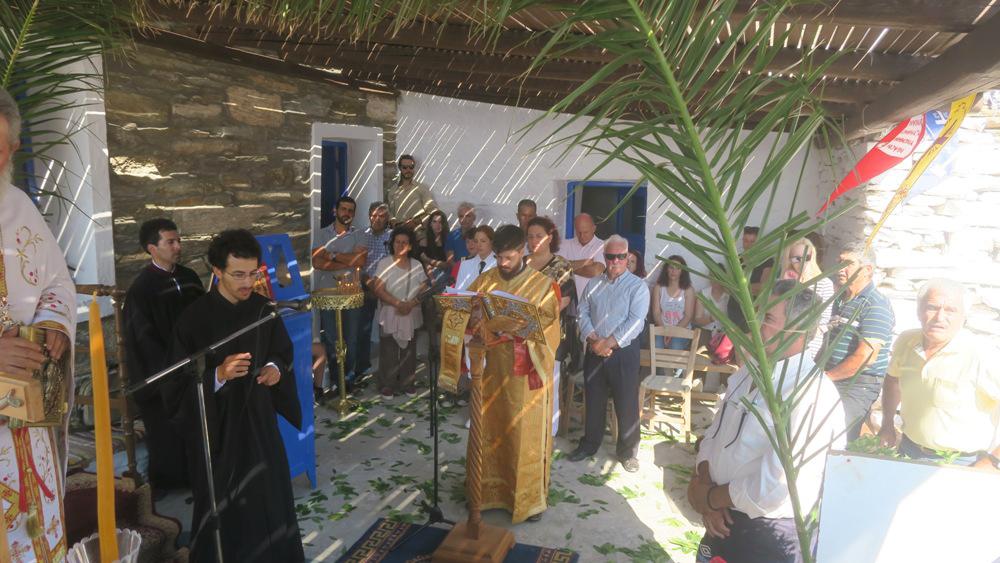 Ο Σεβασμιότατος Μητροπολίτης Σύρου - Κέας στην Καρθαία για τη γιορτή του Αγ. Πνεύματος