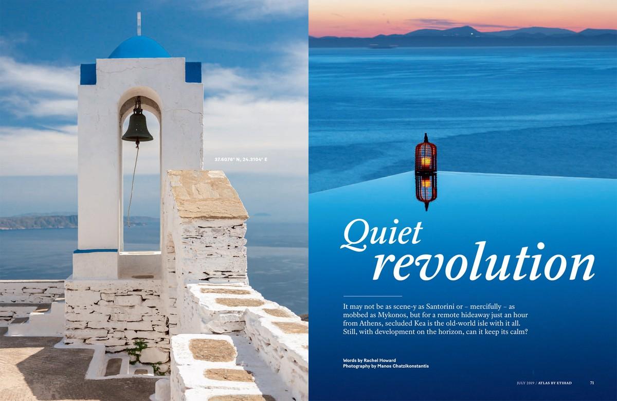 Εκτενές αφιέρωμα στην Κέα στο περιοδικό Atlas της Etihad Airways