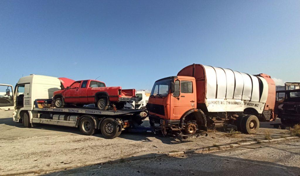 Απόσυρση παλιών υπηρεσιακών οχημάτων Δήμου Κέας