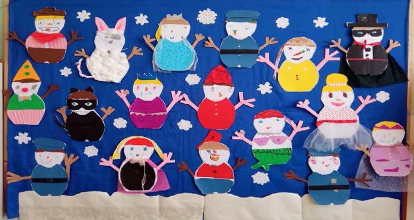 Νηπιαγωγείο Ιουλίδας - Οι χιονάνθρωποι δεν πρόλαβαν να λιώσουν και μεταμφιέστηκαν, έγιναν ξεχωριστοί, μοναδικοί!